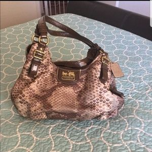 Coach snake print madison lg purse